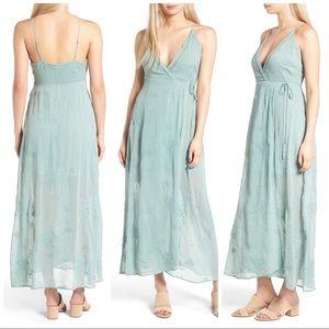 ASTR the Label Teal Foam Maxi Dress